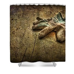 If The Glove Doesn't Fit........ Shower Curtain by Evelina Kremsdorf