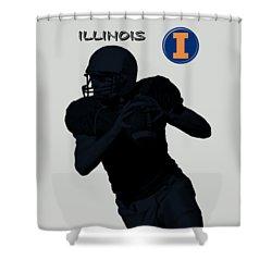Illinois Football Shower Curtain by David Dehner