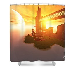 Imagine Shower Curtain by Corey Ford