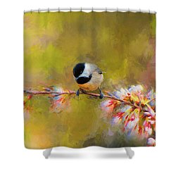 Impressionist Chickadee Shower Curtain by Jai Johnson