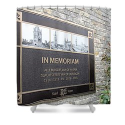 Shower Curtain featuring the photograph In Memoriam - Ypres by Travel Pics