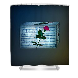 In My Life Cubed Shower Curtain by Bill Cannon