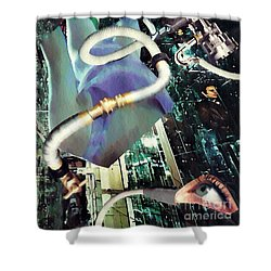 In Production Shower Curtain by Sarah Loft