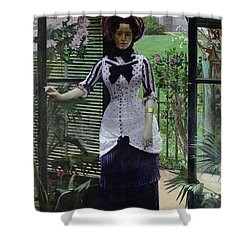 In The Greenhouse Shower Curtain by Albert Bartholome