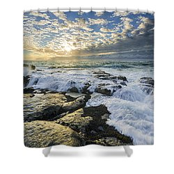 Incoming II Shower Curtain by Robert Bynum