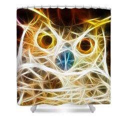Incredible Owl Portrait Shower Curtain by Pamela Johnson