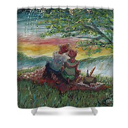 Independance Day Pignic Shower Curtain by Nadine Rippelmeyer