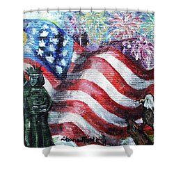Independence Day Shower Curtain by Shana Rowe Jackson