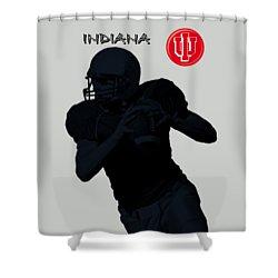 Indiana Football Shower Curtain by David Dehner