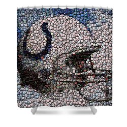 Indianapolis Colts Bottle Cap Mosaic Shower Curtain by Paul Van Scott