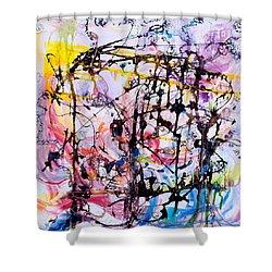 Information Network Shower Curtain by Regina Valluzzi