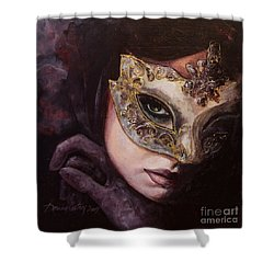 Ingredient Of Mystery  Shower Curtain by Dorina  Costras