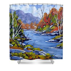 Inland Water Shower Curtain by Richard T Pranke