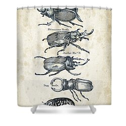 Insects - 1792 - 01 Shower Curtain by Aged Pixel