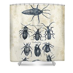 Insects - 1792 - 04 Shower Curtain by Aged Pixel