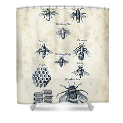 Insects - 1792 - 14 Shower Curtain by Aged Pixel