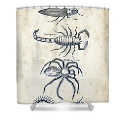 Insects - 1792 - 19 Shower Curtain by Aged Pixel