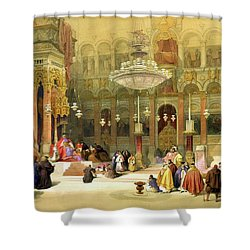 Inside The Church Of The Holy Sepulchre Shower Curtain by Munir Alawi