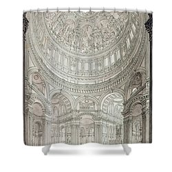 Interior Of Saint Pauls Cathedral Shower Curtain by John Coney