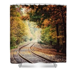 Into The Fog Shower Curtain by Lisa Russo