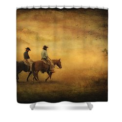 Into The Mist Shower Curtain by Priscilla Burgers