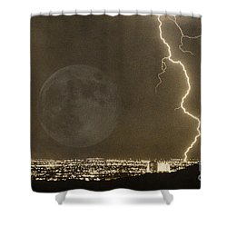 Into The Night Shower Curtain by James BO  Insogna