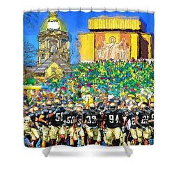 Irish Run To Victory Shower Curtain by John Farr