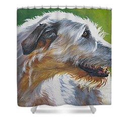Irish Wolfhound Beauty Shower Curtain by L A Shepard