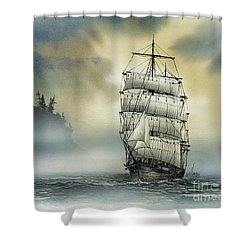 Island Mist Shower Curtain by James Williamson