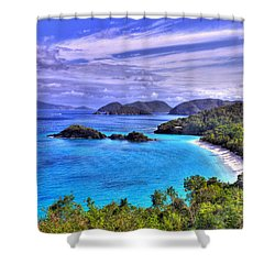 Isle Of Sands Shower Curtain by Scott Mahon