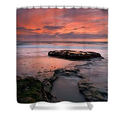 Isle Of The Setting Sun Shower Curtain by Mike  Dawson