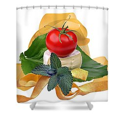 Italian Shower Curtain by Manfred Lutzius