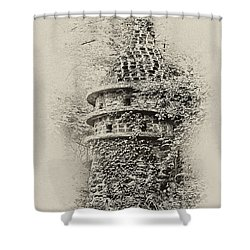 Ivy Covered Castle In The Woods Shower Curtain by Bill Cannon