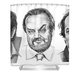 Jack Jack Jack Nickolson Shower Curtain by Murphy Elliott