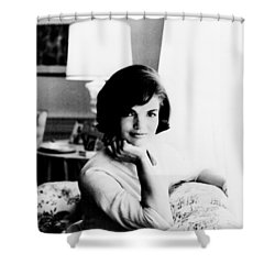 Jacqueline Shower Curtain by Benjamin Yeager