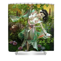 Jade Shower Curtain by Mary Hood