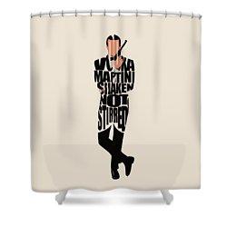 James Bond Shower Curtain by Ayse Deniz