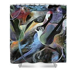 Jammin Shower Curtain by Ikahl Beckford
