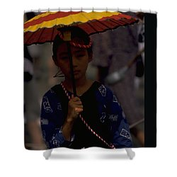 Shower Curtain featuring the photograph Japanese Girl by Travel Pics