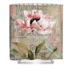 Jardin Rouge I Shower Curtain by Mindy Sommers
