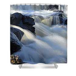 Jasper Falls Closeup Shower Curtain by Larry Ricker