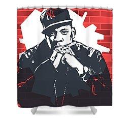 Jay Z Graffiti Tribute Shower Curtain by Dan Sproul