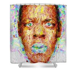 Jay Z Painted Digitally 2 Shower Curtain by David Haskett