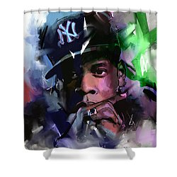 Jay Z Shower Curtain by Richard Day
