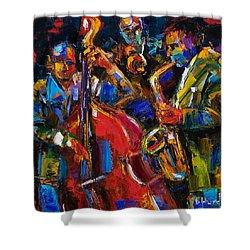 Jazz Shower Curtain by Debra Hurd