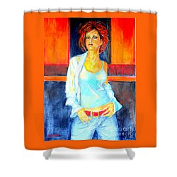 Jeans Shower Curtain by Dagmar Helbig