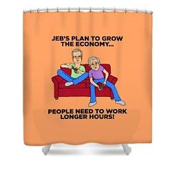 Jeb Bush Shower Curtain by Sean Corcoran