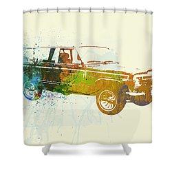 Jeep Wagoneer Shower Curtain by Naxart Studio