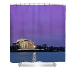 Jefferson Monument Shower Curtain by Sebastian Musial