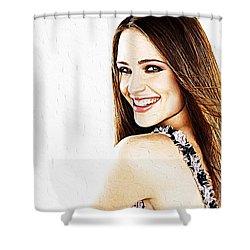 Jennifer Garner Shower Curtain by Iguanna Espinosa